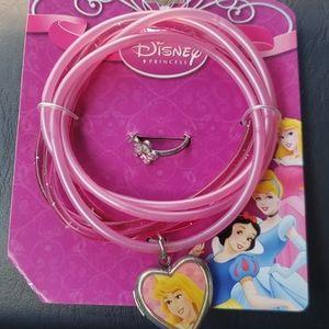 Disney Princess bracelets locket and ring set